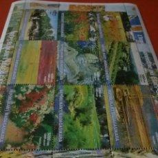 Sellos: HB MADAGASCAR (MADAGASIKARA) NUEVA/IMPRESIONISMO/CUADROS/ARTE/PINTURA/PAIDAJES/NATURALEZA/FLORES/JAR. Lote 278495548
