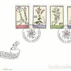 Sellos: LIECHTENSTEIN IVERT 1010/3, FLORES DEL JARDIN BOTANICO DEL PRINCIPADO, PRIMER DIA DE 6-9-1993. Lote 278588473