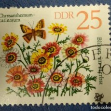 Timbres: ALEMANIA DDR 1982. PAINTED DAISY (CHRYSANTHEMUM CARINATUM) MI:DD 2741,. Lote 286480408