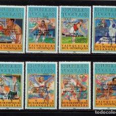 Sellos: TOGO AEREO 594/601** - AÑO 1985 - VENCEDORES DE LOS JUEGOS OLÍMPICOS DE LOS ANGELES. Lote 286873448