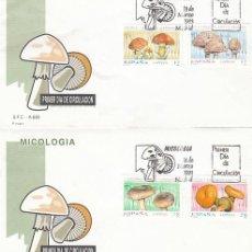 Sellos: EDIFIL 3244/7, MICOLOGIA, PRIMER DIA DE 18-3-1993 SFC. Lote 287759883
