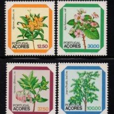 Sellos: AZORES 347/50** - AÑO 1983 - FLORA - FLORES. Lote 288076553