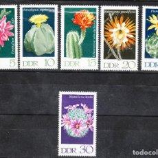 Sellos: ALEMANIA - DDR MI 1625-30 ** - AÑO 1970 - CACTUS. Lote 288536293