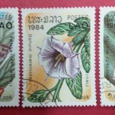 Sellos: LAOS 1984. TEMATICA FLORA.. Lote 288566048