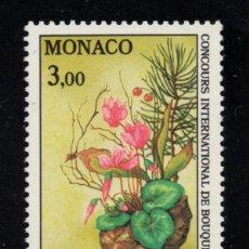 Sellos: MONACO 1759** - AÑO 1991 - FLORA - FLORES - CONCURSO INTERNACIONAL DE RAMOS. Lote 288571028