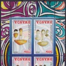 Sellos: F-EX27699 RWANDA MNH 2010 FLOWER MUSHROOMS HONGOS.. Lote 293581228