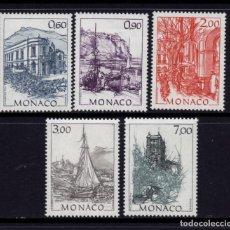 Sellos: MONACO 1834/38** - AÑO 1992 - PINTURA - OBRAS DE HUBERT CRERISSI. Lote 295336688