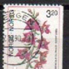 Sellos: NORUEGA IVERT Nº 996, ORQUIDEA: EPIPACTIS ATRORUBENS, USADO. Lote 295339558