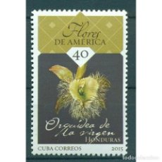 Sellos: ⚡ DISCOUNT CUBA 2015 NATIONAL FLOWERS OF THE AMERICAS MNH - FLOWERS, ORCHIDS. Lote 295943798