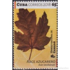 Sellos: ⚡ DISCOUNT CUBA 2018 ACER SACCHARUM - THE NATIONAL SYMBOL OF CANADA MNH - TREES. Lote 295964828