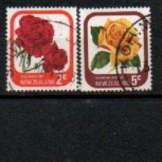 Sellos: NUEVA ZELANDA IVERT Nº 645, ROSAS DE NUEVA ZELANDA, 4 SELLOS USADOS. Lote 296696168