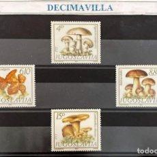 Sellos: FLSE093, YUGOSLAVIA, SETAS, 1983, 1860/63. Lote 296950538