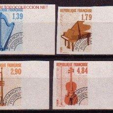 Sellos: FRANCIA PREOBLITERADO 202/05** SIN DENTAR - AÑO 1989 - MUSICA - INSTRUMENTOS MUSICALES. Lote 25728381