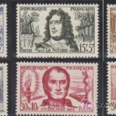 Sellos: FRANCIA - AÑO 1959 - CELEBRIDADES. Lote 27113067