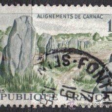 Sellos: FRANCIA 1965 - 1 F - YVERT 1440 - CARNAC - USADO. Lote 8083406