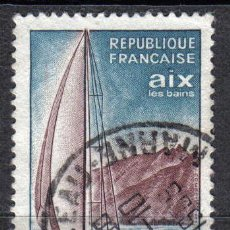 Sellos: FRANCIA 1965 - 0.6 F - YVERT 1437 - TURISMO. TEMA BARCOS - USADO. Lote 8083430