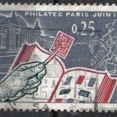 Sellos: FRANCIA 1963 - 0.25 F - YVERT 1403 - EXPOSICION FILATELICA - USADO. Lote 8084173