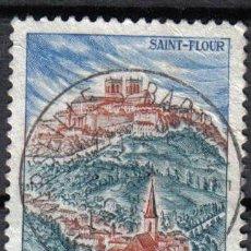 Sellos: FRANCIA 1963 - 0.6 F - YVERT 1392 - SAINT FLOUR - USADO. Lote 8084291