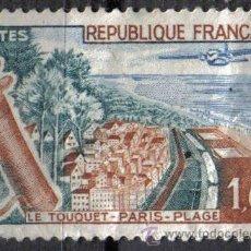 Sellos: FRANCIA 1962 - 1 F - YVERT 1355 - TURISMO. GOLF - USADO. Lote 8084404