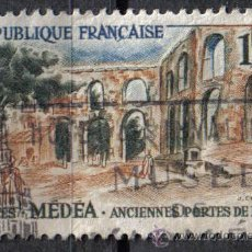 Sellos: FRANCIA 1961 - 1 F YVERT 1318 - MEDEA (ARGELIA) - USADO. Lote 8086684