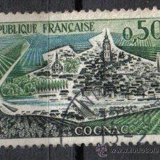 Sellos: FRANCIA 1961 - 0.5 F YVERT 1314 - COGNAC - USADO. Lote 8086733