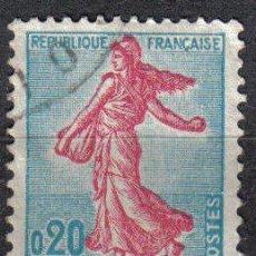 Sellos: FRANCIA 1960 - 0.20 F YVERT 1233 - MARIANA SEMBRANDO - USADO. Lote 8086842
