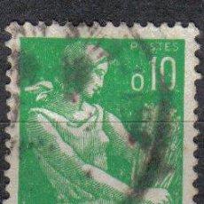 Sellos: FRANCIA 1960 - 0.10 F YVERT 1231 - MARIANA CON ESPIGAS - USADO. Lote 8086849
