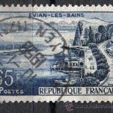 Sellos: FRANCIA 1957 - 65 F YVERT 1131 - EVIAN LES BAINS - USADO. Lote 8086912