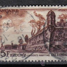 Sellos: FRANCIA 1955 - 25 F YVERT 1042 - BROUAGE - USADO. Lote 8086951