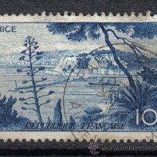 Sellos: FRANCIA 1955 - 10 F YVERT 1038 - PUERTO DE NIZA - USADO. Lote 8086997