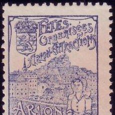 Sellos: FRANCIA. VIÑETA. *FETES ORGANISÉES PAR ARLON ARTRACTIONS/ARLON/1904...EXPOSITION AGRICOLE*.MUY RARA. Lote 23867364