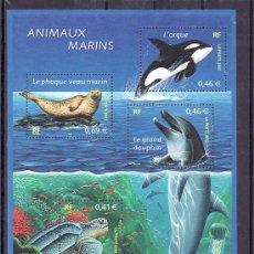 Sellos: FRANCIA HB 48 SIN CHARNELA, FAUNA, WWF, NATURALEZA, FAUNA MARINA, . Lote 69275983