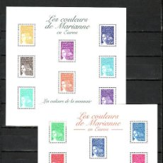 Sellos: FRANCIA HB 44/5 SIN CHARNELA, LOS COLORES DE MARIANA EN EUROS, . Lote 11364870