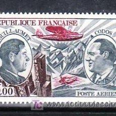 Sellos: FRANCIA AEREO 48 SIN CHARNELA, AVION, PIONEROS DEL CORREO AEREO GUILLAUMET Y CODOS, . Lote 11107490