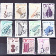 Sellos: FRANCIA PRE-OBLITERADO 213/23 SIN CHARNELA, MUSICA, INSTRUMENTOS,. Lote 12019325