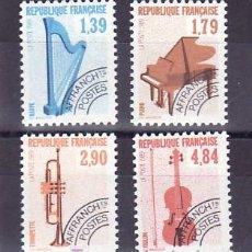 Sellos: FRANCIA PRE-OBLITERADO 202/5 SIN CHARNELA, MUSICA, INSTRUMENTOS, ARPA, PIANO, TROMPETA, VIOLIN, . Lote 8757190