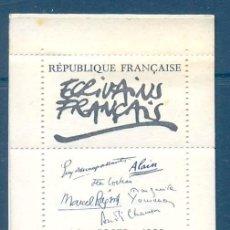 Sellos: FRANCIA IVERT CARNET Nº 3010, ESCRITORES FRANCESES: MAUPASSANT, COCTEAU, PAGNOL, YOURCENAR. NUEVO***. Lote 8796681