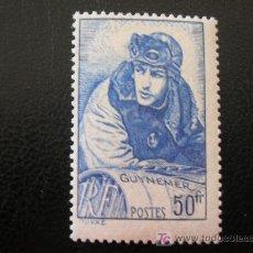 Sellos: FRANCIA 1940 IVERT 461 *** CAPITAN AVIADOR GEORGES GUYNEMER - MUSEO DE LA ARMADA - PINTURA. Lote 19122533