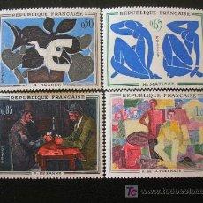 Sellos: FRANCIA 1961 IVERT 1319/22 *** ARTE - PINTURA MODERNA. Lote 19122503