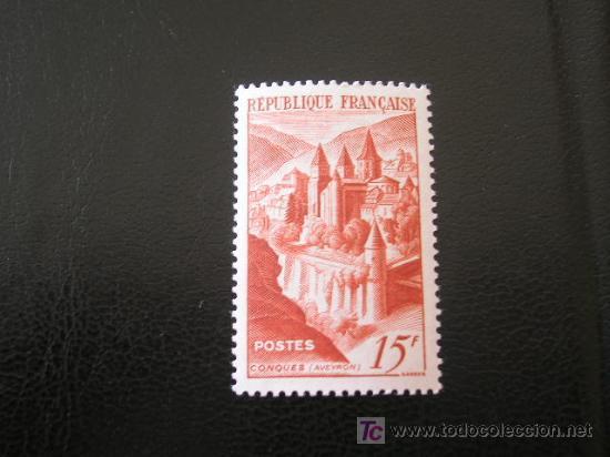 FRANCIA 1947 IVERT 792 *** ABADÍA DE CONQUES - MONUMENTOS (Sellos - Extranjero - Europa - Francia)
