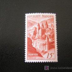 Sellos: FRANCIA 1947 IVERT 792 *** ABADÍA DE CONQUES - MONUMENTOS. Lote 23357278