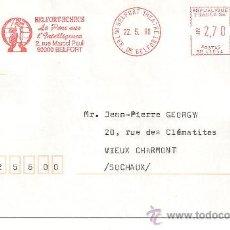 Sellos: BELFORT (FRANCIA). FRANQUEO MECANICO DE AJEDREZ. 22/05/1996. Lote 10465583