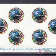 Sellos: FRANCIA 3140BC CARNET SIN CHARNELA, FRANCIA 98, COPA DEL MUNDO DE FUTBOL, . Lote 10925630