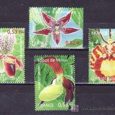 Sellos: FRANCIA 3763/6 SIN CHARNELA, NATURALEZA, FLORES, ORQUIDEAS, . Lote 10981570
