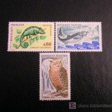 Sellos: FRANCIA 1971 IVERT 1692/4 *** PROTECCIÓN DE LA NATURALEZA - FAUNA. Lote 11377214