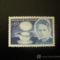 Sellos: FRANCIA 1967 IVERT 1533 *** CENTENARIO DEL NACIMIENTO DE MARIE CURIE. Lote 11869327