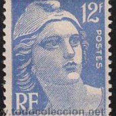Sellos: FRANCIA IVERT Nº 0812, MARIANNE DE GANDON, NUEVO CON MARCAS DEL CLASIFICADOR. Lote 12778630