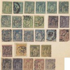 Sellos: 1876/1900, 31 SELLOS DE FRANCIA, CIRCULADOS, III REPÚBLICA. VARIOS TIPOS Y DIFERENTES FECHADORES.. Lote 27258235