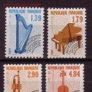 Sellos: FRANCIA PREOBLITERADO 202/05** - AÑO 1989 - MUSICA - INSTRUMENTOS MUSICALES. Lote 167552557