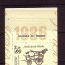 Sellos: FRANCIA CARNET 2411A** - AÑO 1986 - DIA DEL SELLO - COCHES POSTALES. Lote 26555806